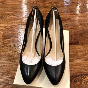 Coach black leather 4 1/2 heels